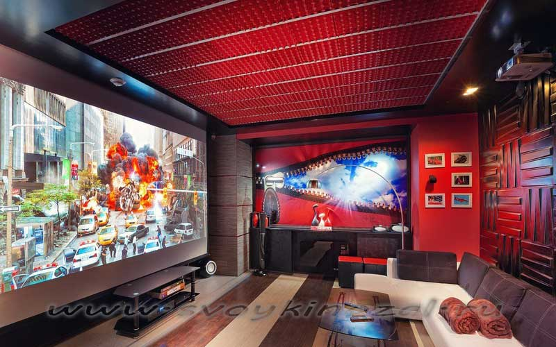 Размещение проектора в интерьере домашнего кинотеатра 2